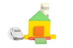 Haus mit Dollarkamin Stockfotos
