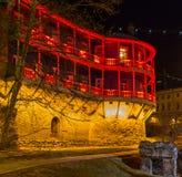 Haus mit einem traditionellen Balkon in Tiflis Alte Stadt Lizenzfreie Stockbilder
