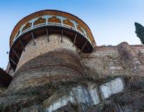 Haus mit einem traditionellen Balkon in Tiflis Alte Stadt Stockbild