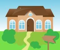 Haus mit einer Nadelanzeige Lizenzfreie Stockbilder