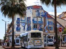 Haus mit Freskos in Cannes Lizenzfreie Stockfotos