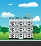 Haus mit 3 Geschichten vektor abbildung