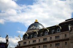 Haus mit glasdome in London Stockfotos