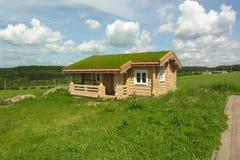 Haus mit grünem Dach lizenzfreie stockbilder