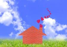 Haus mit Liebe Stockfoto