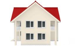 Haus mit rotem dach lokalisiert auf einem wei vektor for Modernes haus mit rotem dach