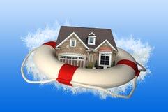 Haus mit Schwimmweste Lizenzfreies Stockfoto