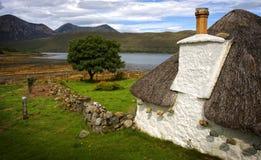 Haus mit thatched Dach Lizenzfreies Stockbild