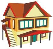 Haus mit zwei Geschossen mit externem Treppenhaus Lizenzfreie Stockbilder