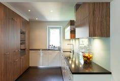 Haus, moderne Küche Stockfotos