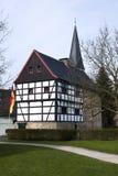 Haus morgens Quall, Haan-Gruiten, Bergisches Land Stockfotografie