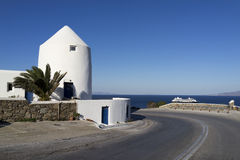 Haus in Mykonos Stockbilder