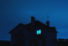 Haus nachts Stockbilder