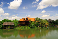 Haus nahe einem See Lizenzfreie Stockfotos