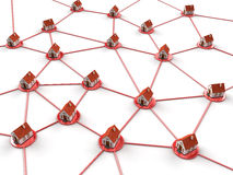 Haus-Netz Lizenzfreie Abbildung