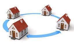 Haus-Netz Stock Abbildung