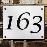 Haus nnumber 163 Lizenzfreies Stockbild