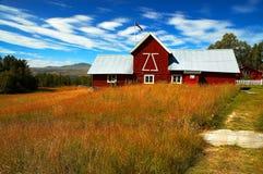 Haus in Norwegen Stockfotos