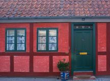 Haus in Nysted Stockfoto