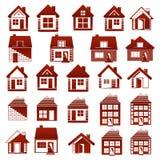 Am Haus oder in ihrer Wohnung, ist sie schönes Leben! Immobilienkonzept des Logos Stockbilder
