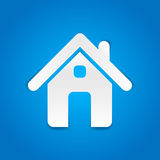 Haus- Papierschnittdesign Lizenzfreies Stockfoto