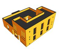 Haus-Perspektive 6 stock abbildung