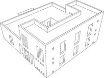 Haus-Perspektive 6 vektor abbildung