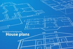 Haus-Pläne stockfotografie