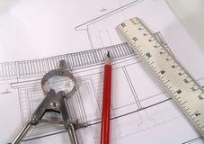 Haus-Pläne 2 stockbild