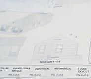 Haus-Pläne Stockfoto