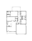 Haus-Plan Lizenzfreies Stockfoto