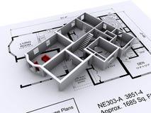 Haus-Plan Lizenzfreie Stockbilder