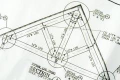 Haus-Plan Blueprints Hauptneues stockfotografie