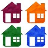 Haus Plasticine Lizenzfreies Stockbild