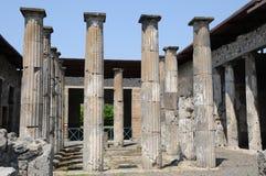 Haus in Pompeji Stockfotos