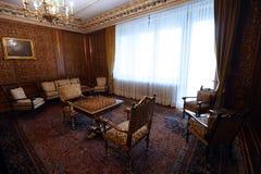 HAUS- PRIMAVERII PALAST-MUSEUM CEAUSESCU-FAMILIEN- stockfoto