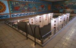 HAUS- PRIMAVERII PALAST-MUSEUM CEAUSESCU-FAMILIEN- stockbild
