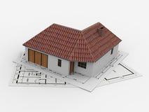 Haus-Projekt Stockbild