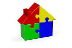 Haus-Puzzle Lizenzfreie Stockfotos