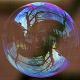 Der Wohnungsmarkt ist eine Seifenblase stockfoto