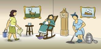 Haus-Reinigung stock abbildung