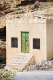 Haus Saiq-Hochebene Stockbild