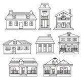 Haus-Sammlung Stockfotos