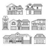Haus-Sammlung Stockbilder