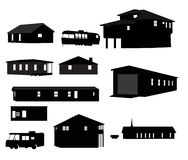 Haus-Schattenbilder Stockbild
