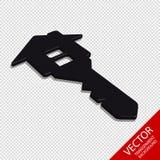 Haus-Schlüssel - Vektor-Ikone Real Estate-Geschäfts-3D - lokalisiert auf transparentem Hintergrund Stockbild