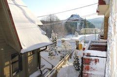 Haus schneebedeckte 9 Lizenzfreie Stockbilder