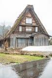 Haus an Shirakawa-Dorf Lizenzfreie Stockbilder