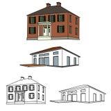 Haus-Skizze-Set Stockbild