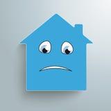 Haus stellen traurig gegenüber Lizenzfreie Stockbilder